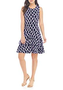 ea5608ebc6a ... MICHAEL Michael Kors Diamond Ikat A Line Dress