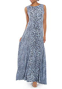 MICHAEL Michael Kors Mix Print Tie Front Maxi Tank Dress