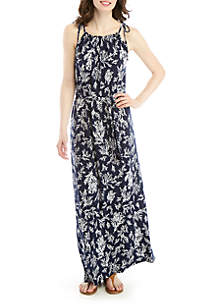 MICHAEL Michael Kors Grommet Neck Maxi Dress