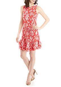 6c7fc375117e ... MICHAEL Michael Kors Sleeveless Coral A Line Dress