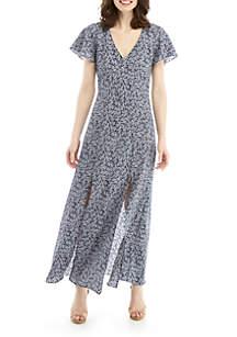 3ecfcc7b413 ... MICHAEL Michael Kors V Neck Slit Front Reef Maxi Dress