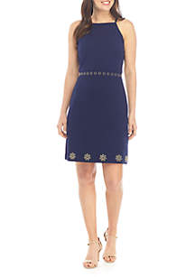 03efe91f122 ... MICHAEL Michael Kors Stud Trim Apron Dress
