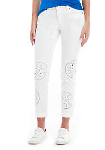 MICHAEL Michael Kors Embroidered Dillon Jeans