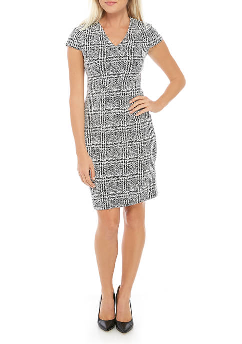 Petite Jacquard Bodycon Dress