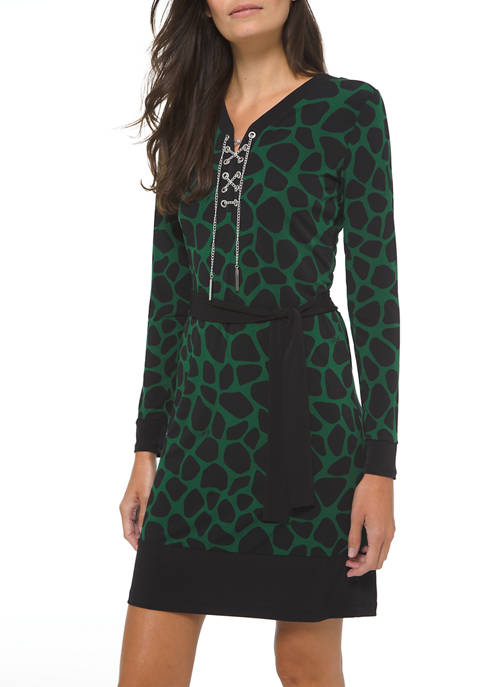 MICHAEL Michael Kors Petite Animal Lace Up Dress