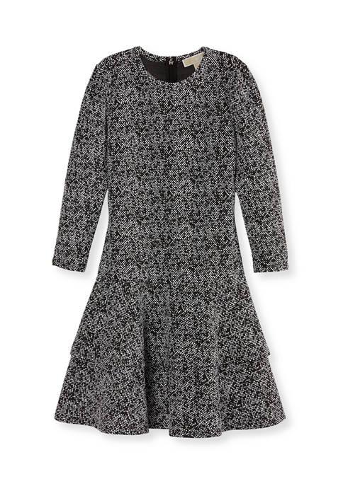 MICHAEL Michael Kors Petite Tweed Double Tiered Dress
