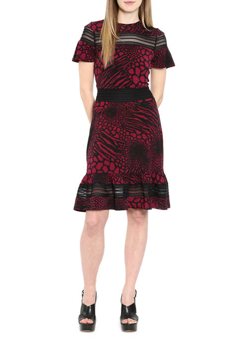 MICHAEL Michael Kors Petite Mixed Animal Print Mesh
