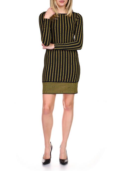MICHAEL Michael Kors Petite Stripe Chain Long Sleeve