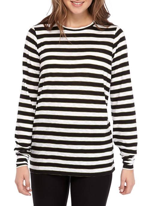 MICHAEL Michael Kors Petite Long Sleeve Stripe T-Shirt