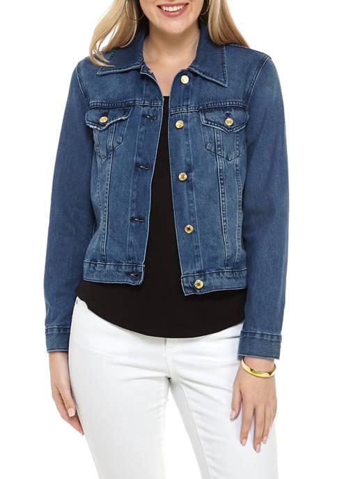 MICHAEL Michael Kors Petite Stretch Denim Jacket