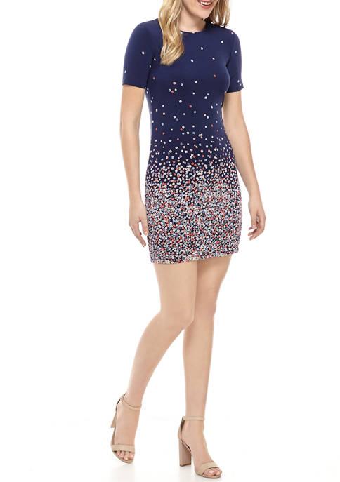 MICHAEL Michael Kors Petite Floral Ombre Dress