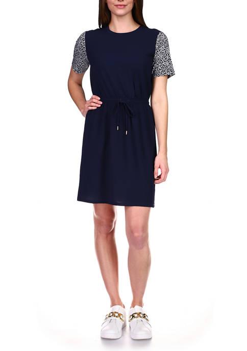 MICHAEL Michael Kors Petite Graphic Logo Dress