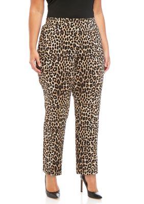 Michael Michael Kors Womens Plus Size Cheetah Trousers
