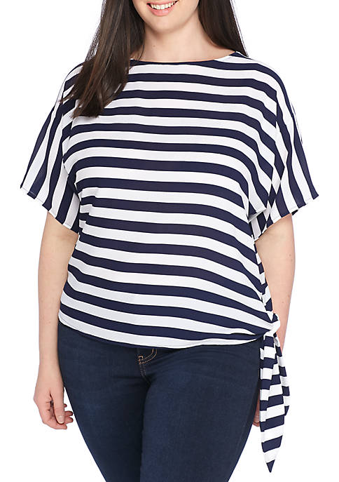 MICHAEL Michael Kors Plus Size Graphic Stripe Side