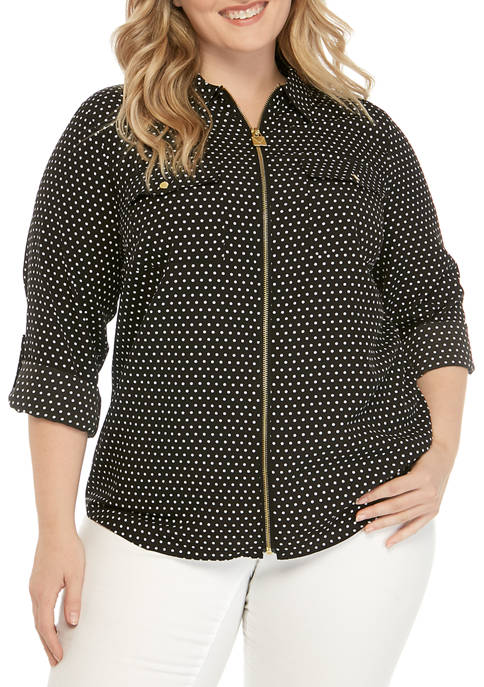 MICHAEL Michael Kors Plus Size Dotted Dog Tag
