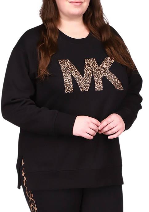 MICHAEL Michael Kors Plus Size Split Hem Logo