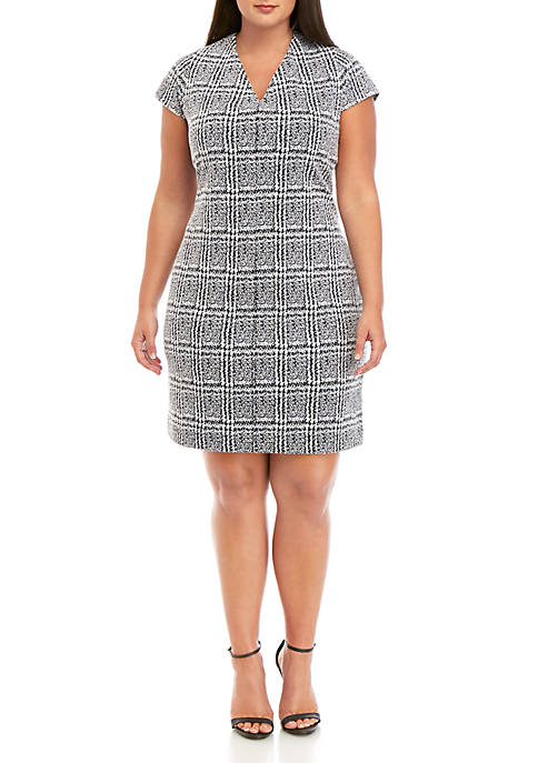 MICHAEL Michael Kors Plus Size Plaid Jacquard Bodycon