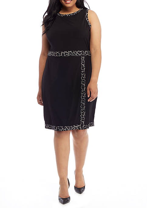 MICHAEL Michael Kors Plus Size Sleeveless Faux Wrap