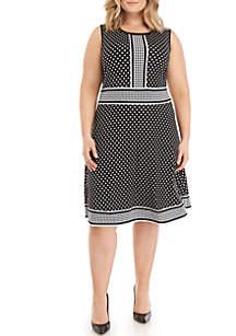 MICHAEL Michael Kors Plus Size A-Line Dotted Dress