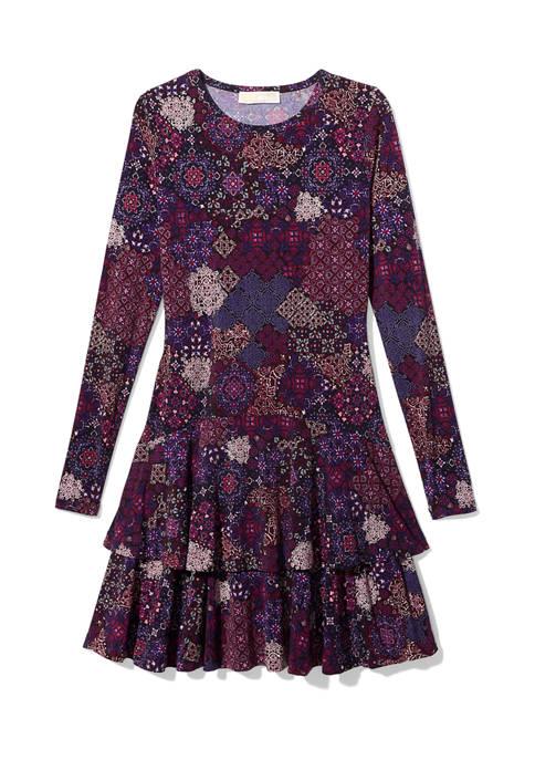 MICHAEL Michael Kors Plus Size Patchwork Medallion Dress
