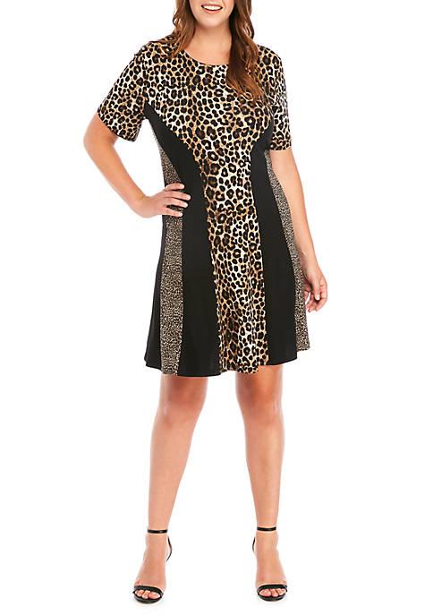 MICHAEL Michael Kors Plus Size Leopard Mix Print