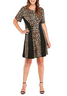 MICHAEL Michael Kors Plus Size Leopard Mix Print Dress