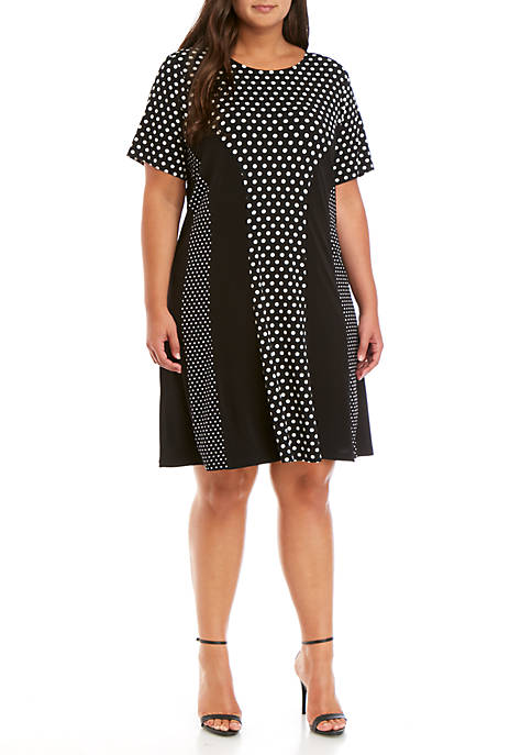 MICHAEL Michael Kors Plus Size Dot Mix Print