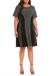 MICHAEL Michael Kors Plus Size Dot Mix Print Dress