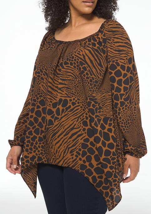 MICHAEL Michael Kors Plus Size Animal Print Woven