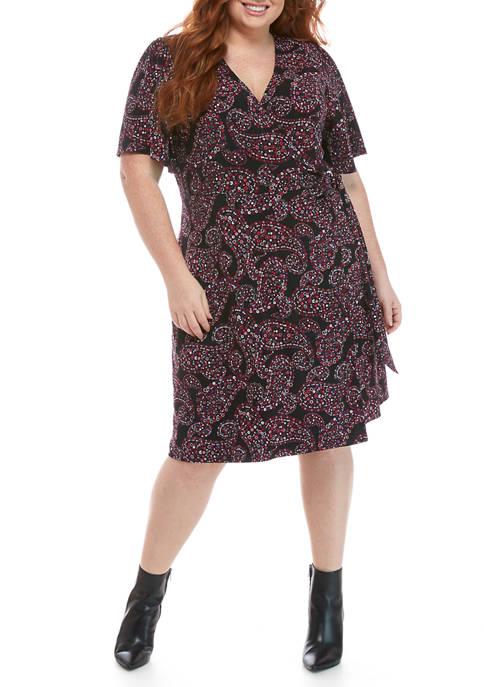 MICHAEL Michael Kors Plus Size Floral Paisley Dress
