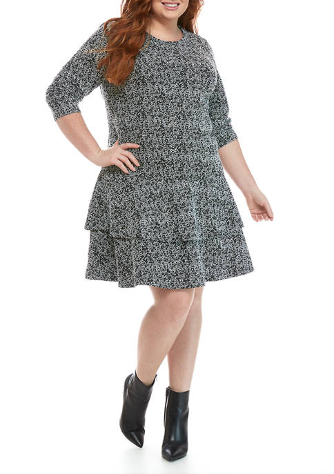 MICHAEL Michael Kors Plus Size Double Tiered Tweed