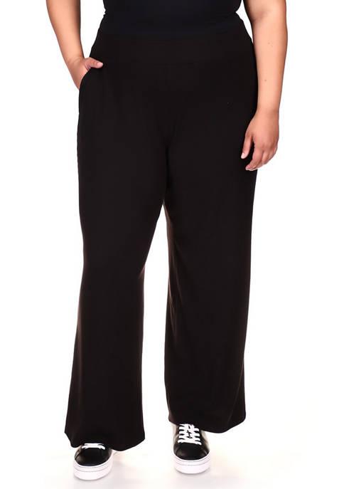 MICHAEL Michael Kors Plus Size Rib Straight Leg