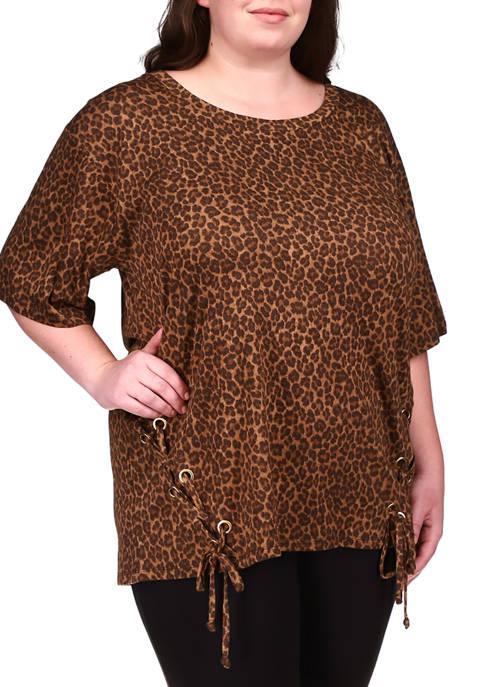 MICHAEL Michael Kors Plus Size Cheetah Lace Up