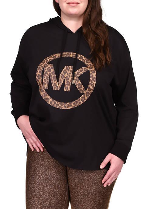MICHAEL Michael Kors Plus Size Logo Graphic Hoodie