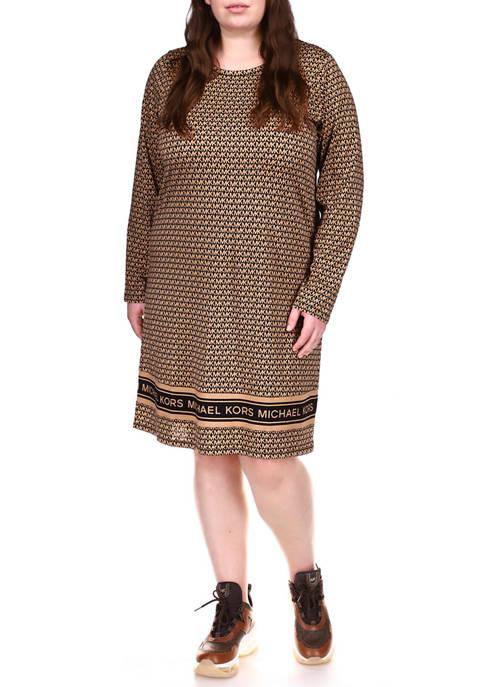 MICHAEL Michael Kors Plus Size Long Sleeve Logo