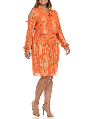 Plus Size Samara Cold Shoulder Blouson Dress