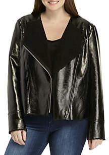 Plus Size Faux Shearling Jacket