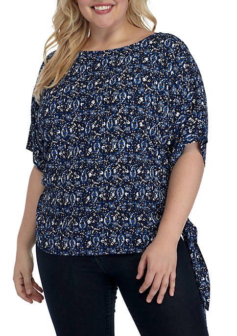 MICHAEL Michael Kors Plus Size Graphic Paisley Top