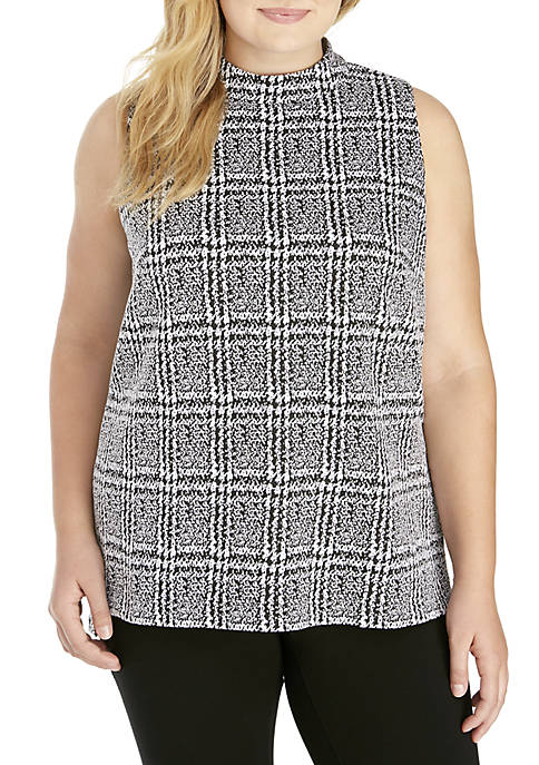 MICHAEL Michael Kors Plus Size Plaid Split Hem