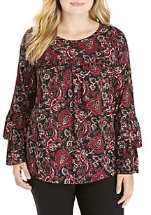 Plus Size Sweetheart Tier Sleeve Top