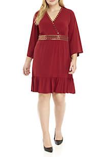 Plus Size Hardware Embellished Dress