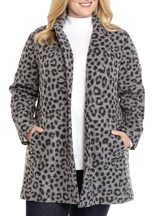 MICHAEL Michael Kors Plus Size Cheetah Brush Blazer
