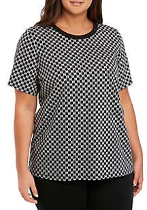 MICHAEL Michael Kors Plus Size Mini Logo Allover T-Shirt