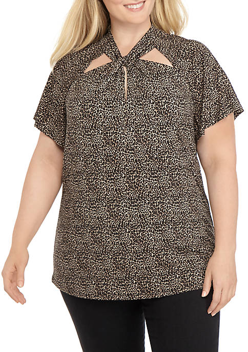MICHAEL Michael Kors Plus Size Cheetah Twist Knit