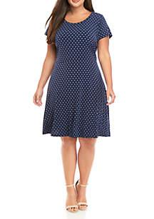 MICHAEL Michael Kors Plus Size Dot Short Sleeve Knit Dress