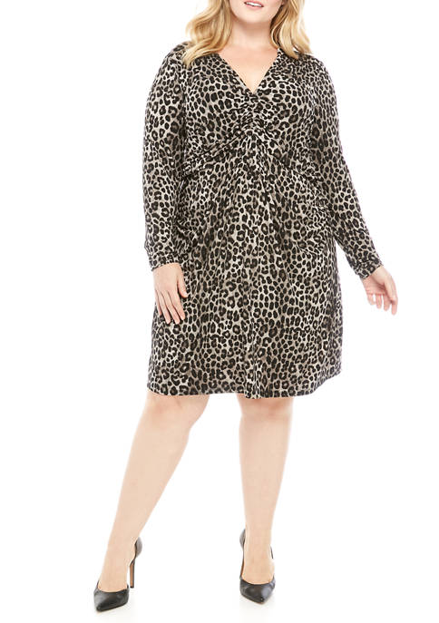 MICHAEL Michael Kors Plus Size Mini Cheetah Ruch