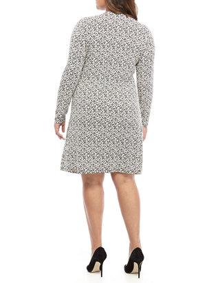 Plus Size Garden Print Long Ruch Dress