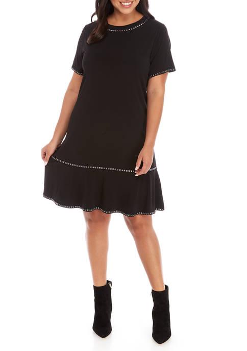 MICHAEL Michael Kors Plus Size Flounce Hem Stud