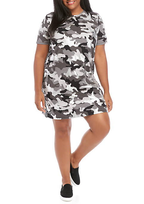 MICHAEL Michael Kors Plus Size Camo Logo Tape