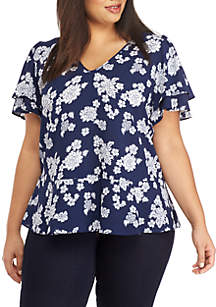 Plus Size Toss Lace Top